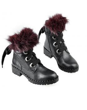 Черни дамски ежевневни боти Kimber в online магазин Fashionzona