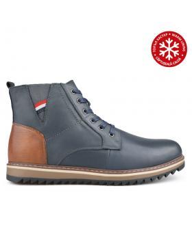 Сини мъжки ежедневни боти с топъл хастар 0135769 в online магазин Fashionzona