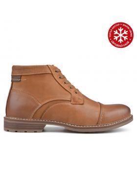 Кафяви мъжки ежедневни боти с топъл хастар 0135766 в online магазин Fashionzona