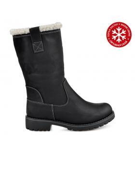 Черни дамски ежедневни боти с топъл хастар 0135660 в online магазин Fashionzona