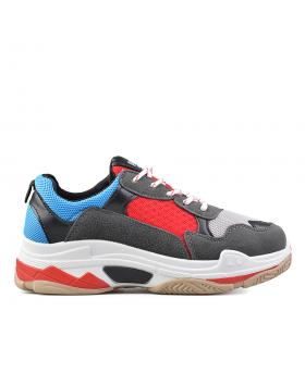 Червени дамски ежедневни обувки Somer в online магазин Fashionzona