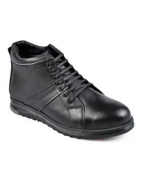 Черни мъжки ежедневни боти с топъл хастар Marquez в online магазин Fashionzona