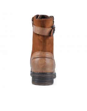 Кафяви дамски ежедневни боти с топъл хастар 0135687 Loucille в online магазин Fashionzona