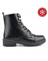 Черни дамски ежедневни боти с топъл хастар 0135191 Malha
