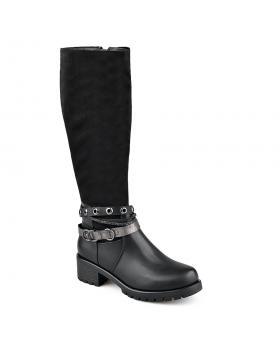 Черни дамски ежедневни ботуши с топъл хастар 0135709 Esteva в online магазин Fashionzona