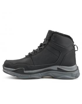 Черни мъжки ежедневни боти с топъл хастар 0136301 в online магазин Fashionzona