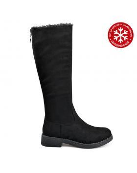 Черни дамски ежедневни ботуши с топъл хастар 0135705 Maricel в online магазин Fashionzona