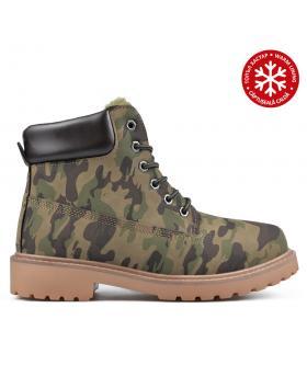 Камуфлажни мъжки ежедневни боти с топъл хастар 0135122 в online магазин Fashionzona