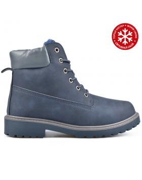 Тъмно сини мъжки ежедневни боти с топъл хастар 0135120 в online магазин Fashionzona