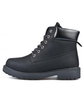 Черни мъжки ежедневни боти с топъл хастар 0135119 в online магазин Fashionzona