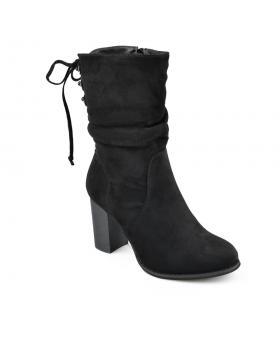 Черни дамски елегантни боти с топъл хастар 0135691 Lindee в online магазин Fashionzona
