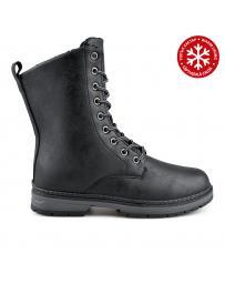 Черни дамски ежедневни боти с топъл хастар 0136046 Malina