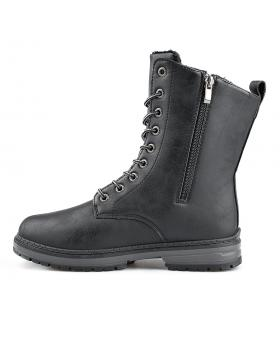 Черни дамски ежедневни боти с топъл хастар 0136046 Malina в online магазин Fashionzona