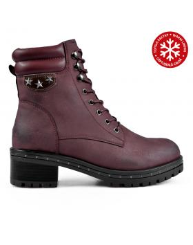 Червени дамски ежедневни боти с топъл хастар 0135697 Cherye в online магазин Fashionzona