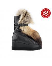 Дамски ежедневни боти черни с топъл хастар Lucie в online магазин Fashionzona