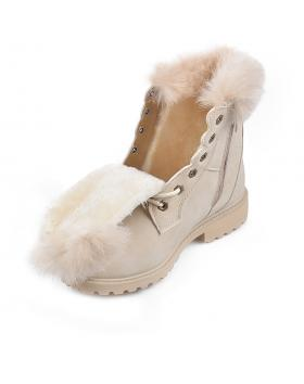 Бежови дамски ежедневни боти Bessy в online магазин Fashionzona