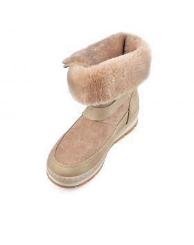 Бежови дамски ежедневни боти 0135530 Ninacska в online магазин Fashionzona