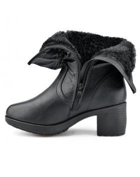 Черни дамски ежедневни боти с топъл хастар Deepa в online магазин Fashionzona