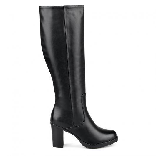 Черни дамски елегантни ботуши 0135318 Juana