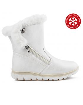 Бели дамски ежедневни боти с топъл хастар 0136051 Marcellia в online магазин Fashionzona