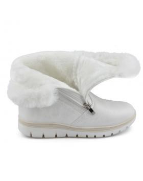 Бели дамски ежедневни боти с топъл хастар Marcellia в online магазин Fashionzona