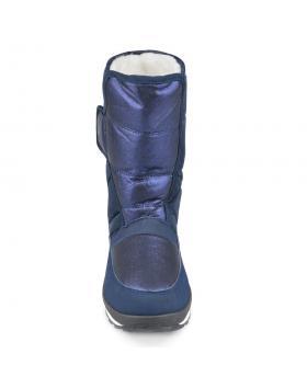 Сини дамски ежедневни ботуши с топъл хастар Garlande в online магазин Fashionzona