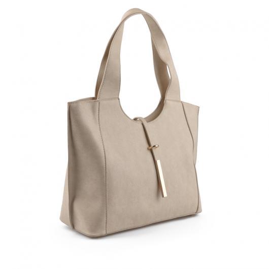 Бежова дамска ежедневна чанта Elia