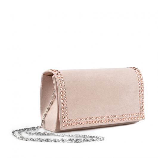 Бежова дамска елегантана чанта Chandler