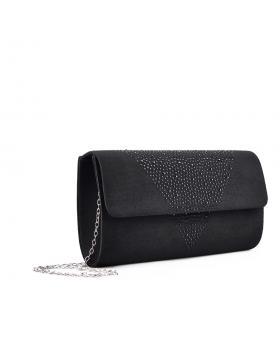 Черна дамска елегантна чанта Cristina в online магазин Fashionzona