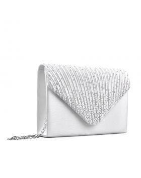 Светло сива дамска елегантна чанта Kalinda в online магазин Fashionzona