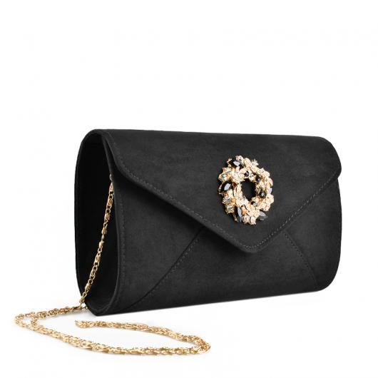 Черна дамска елегантна чанта Amorra