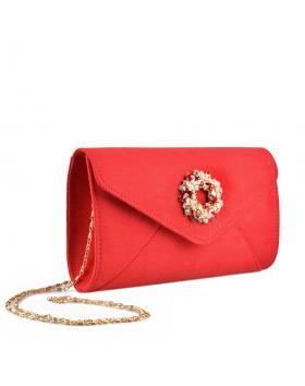 Червена дамска елегантна чанта Chanta в online магазин Fashionzona