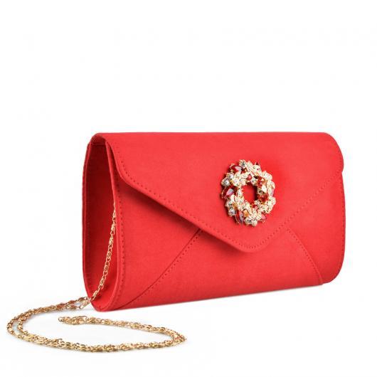 Червена дамска елегантна чанта Chanta