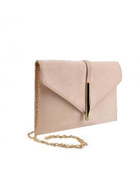 Бежова дамска елегантна чанта Arielle в online магазин Fashionzona