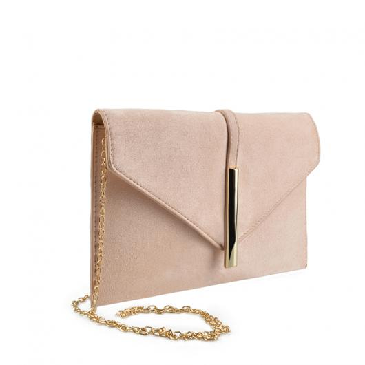 Бежова дамска елегантна чанта 0136754 Arielle