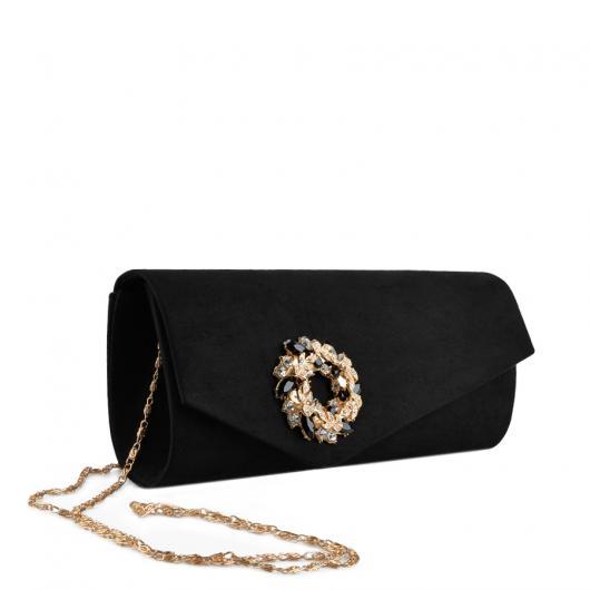 Черна дамска елегантна чанта Avery