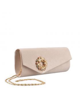 Бежова дамска елегантна чанта Chatzie в online магазин Fashionzona