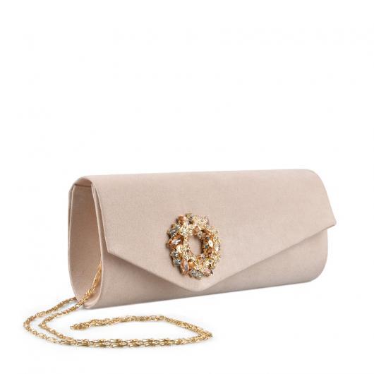 Бежова дамска елегантна чанта Chatzie