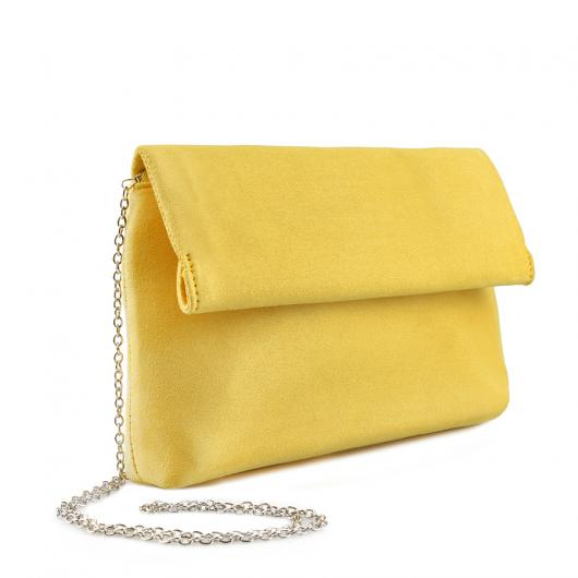 Жълта дамска елегантна чанта 0136774 Farfa