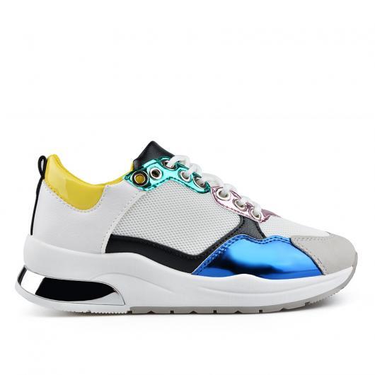 Бели дамски ежедневни обувки Kordney