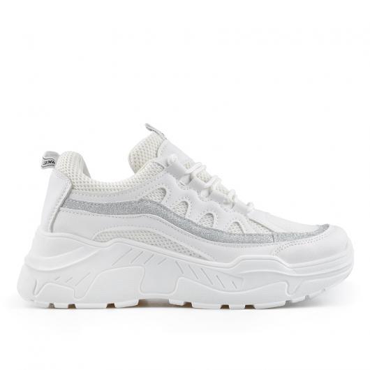 Бели дамски ежедневни обувки Farfalla