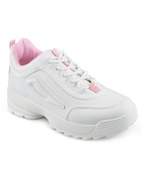 Бели дамски ежедневни обувки Bhoomi в online магазин Fashionzona