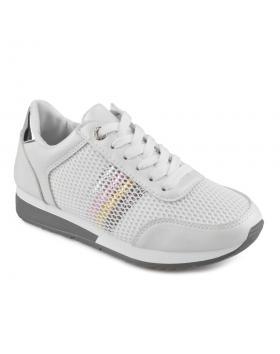 Бели дамски ежедневни обувки Alvara в online магазин Fashionzona