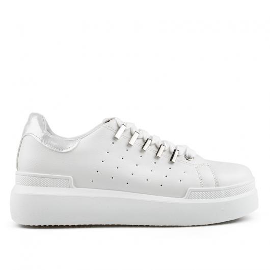 Бели дамски ежедневни обувки Delaney