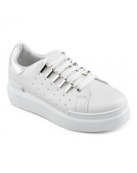 Бели дамски ежедневни обувки Delaney в online магазин Fashionzona