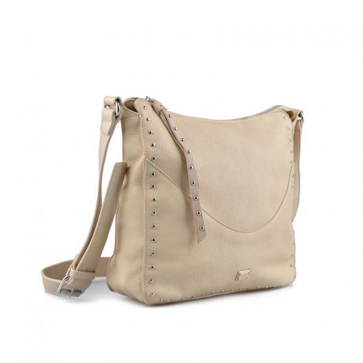 Бежова дамска ежедневна чанта Brianda