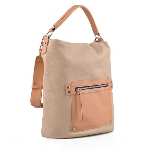 Бежова дамска ежедневна чанта Fleur