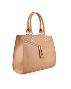 Бежова дамска ежедневна чанта Rujuta в online магазин Fashionzona