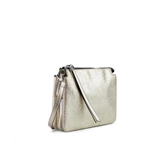 Златиста дамска ежедневна чанта Giavanna