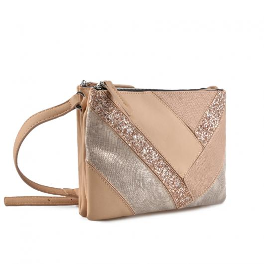 Бежова дамска ежедневна чанта Adalyn